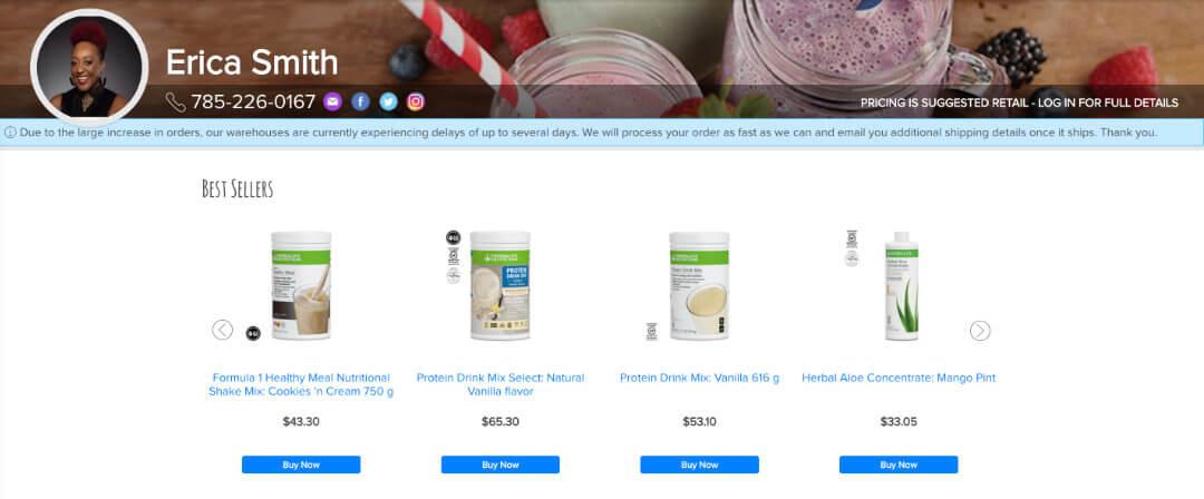 Erica Smith Nutrition